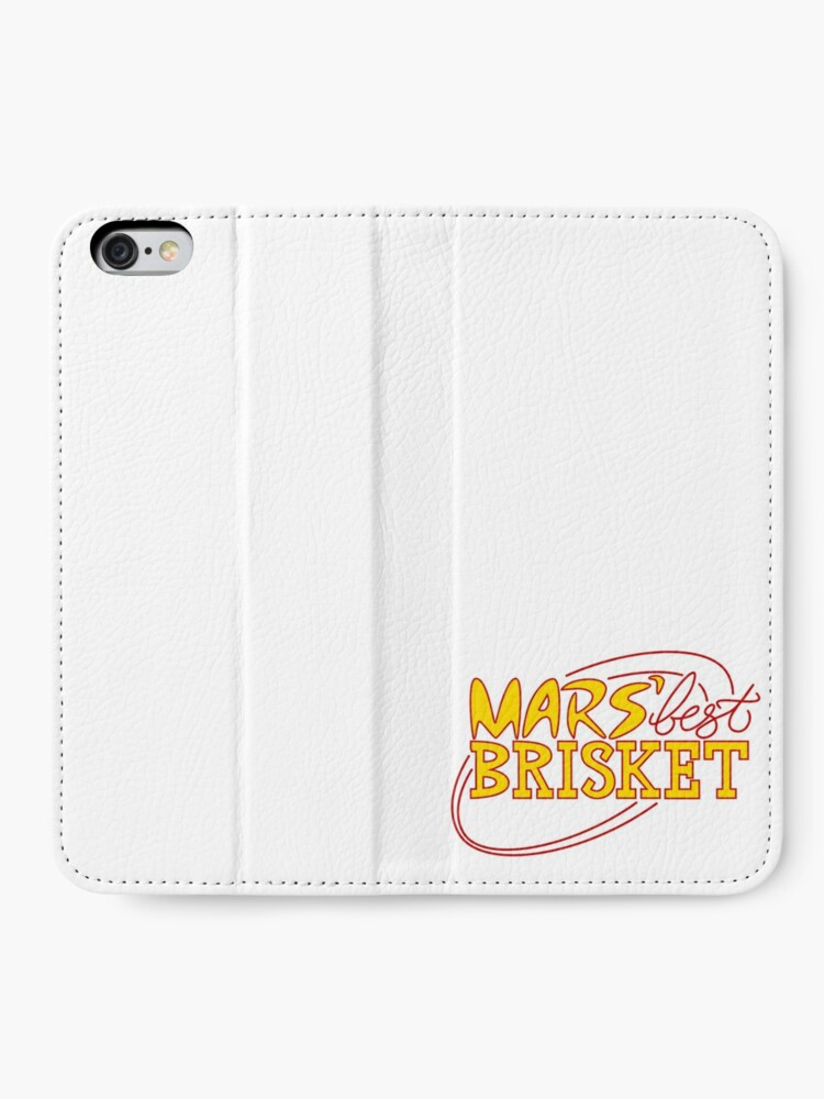 Alternate view of Mars' Best Brisket Official Crew Member (Yellow) iPhone Wallet