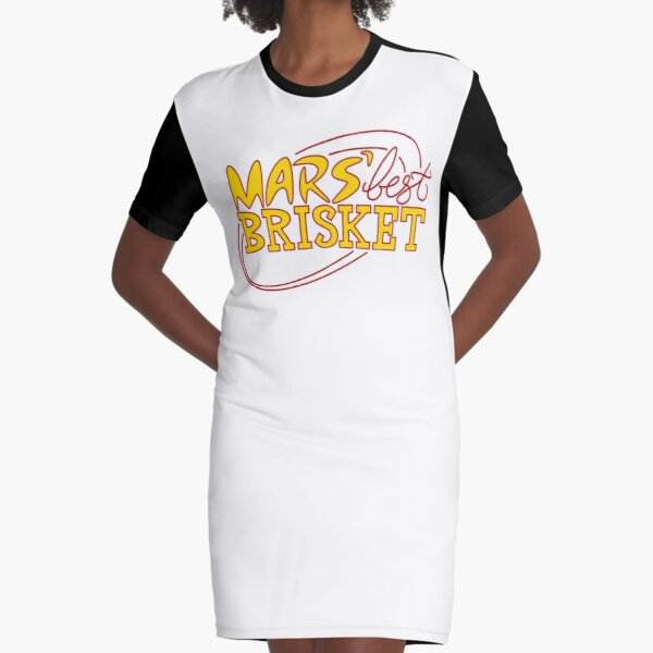 Mars' Best Brisket Official Crew Member (Yellow) Graphic T-Shirt Dress