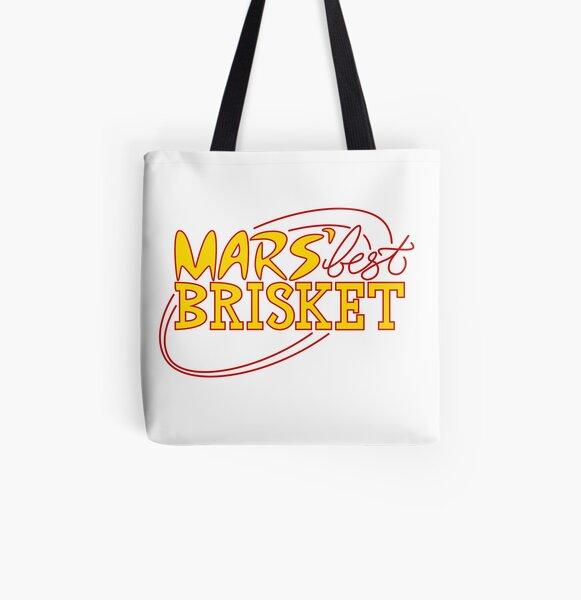 Mars' Best Brisket Official Crew Member (Yellow) All Over Print Tote Bag