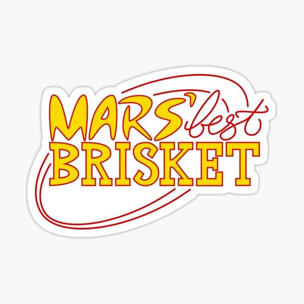 Mars' Best Brisket Official Crew Member (Yellow) Sticker