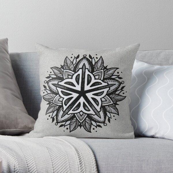 Rochester Mandala (grey tones) Throw Pillow