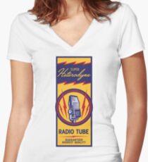 Radio Tube Box Women's Fitted V-Neck T-Shirt