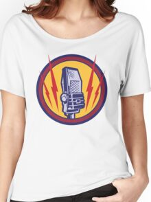Vintage Microphone Women's Relaxed Fit T-Shirt
