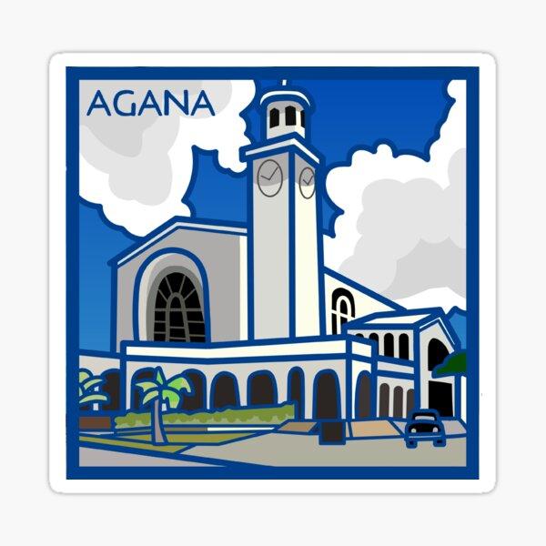 Catedral de Agana Guam Pegatina