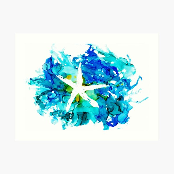 Starfish Splash Art Print