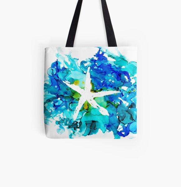 Starfish Splash All Over Print Tote Bag