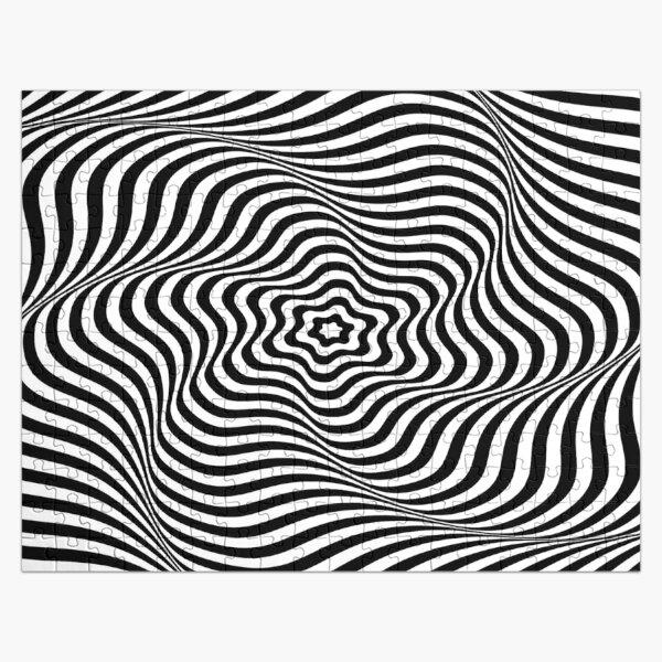 Op art wavy rotary movement - Optical illusion: Wavy Rotary movement Jigsaw Puzzle