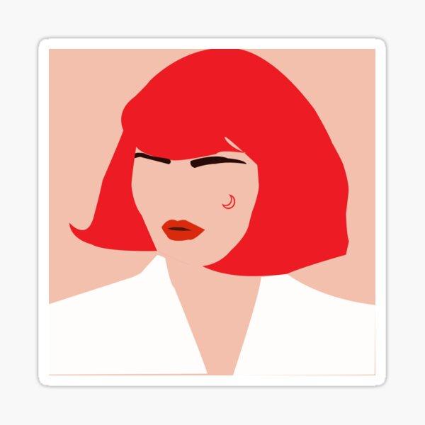 Redhead woman Sticker