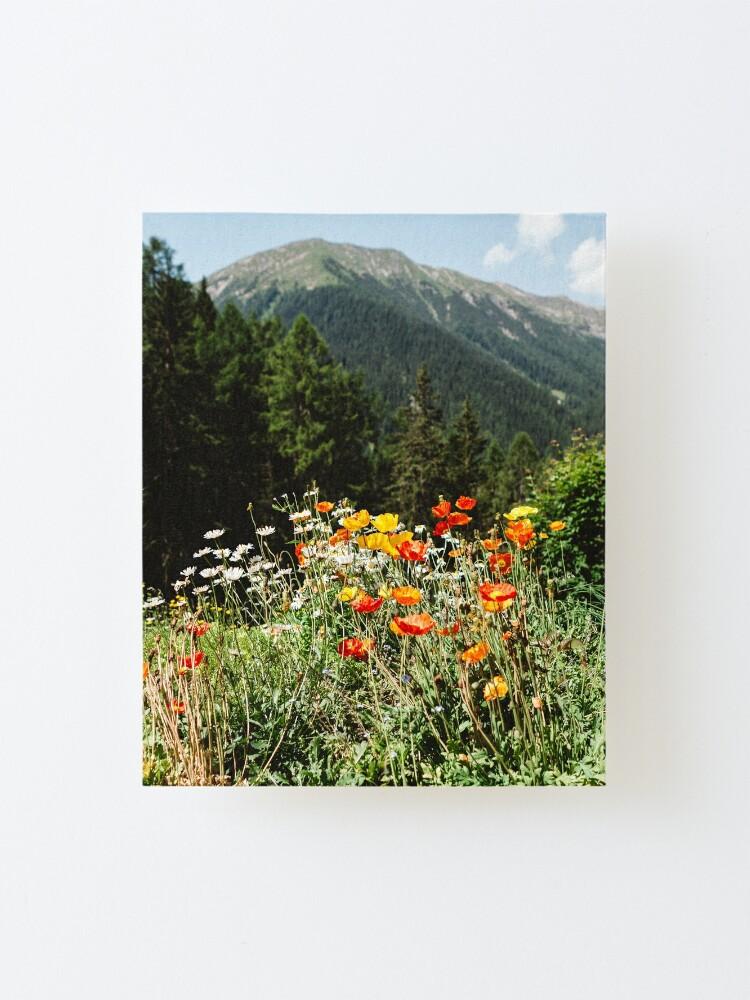 Alternate view of Mountain garden Mounted Print
