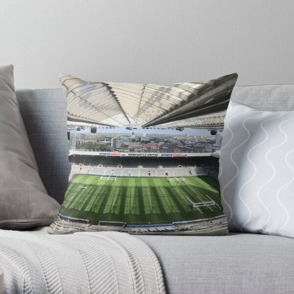 Newcastle United Football Club Photography Throw Pillow