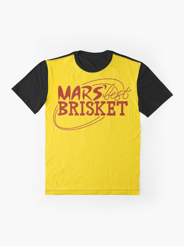 Alternate view of Mars' Best Brisket Official Crew Member (Condiments) Graphic T-Shirt