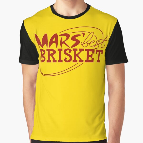Mars' Best Brisket Official Crew Member (Condiments) Graphic T-Shirt
