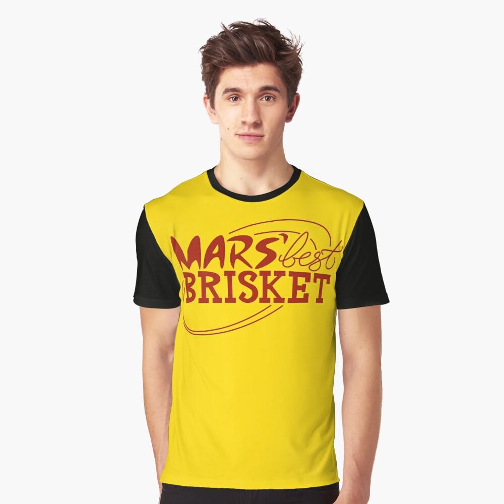Mars' Best Brisket Official Crew Member (Condiments) Graphic T-Shirt