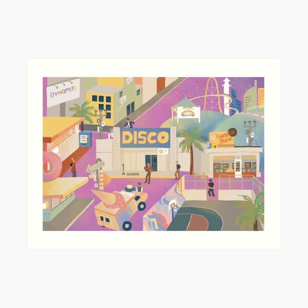 BTS - Dynamite city Art Print