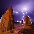 Lightening on the waterfront by Mick Kupresanin
