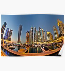 Dubai Marina night Poster