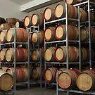 Red Wine in Barrels by brendanscully