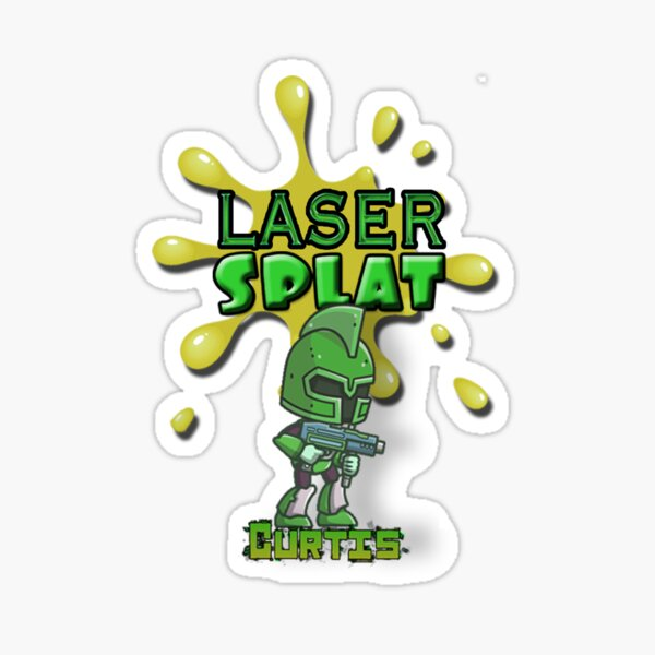 Laser Splat Character - Curtis Sticker