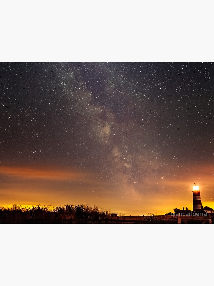 Happisburgh - Milky Way + Lighthouse by giancarloerra