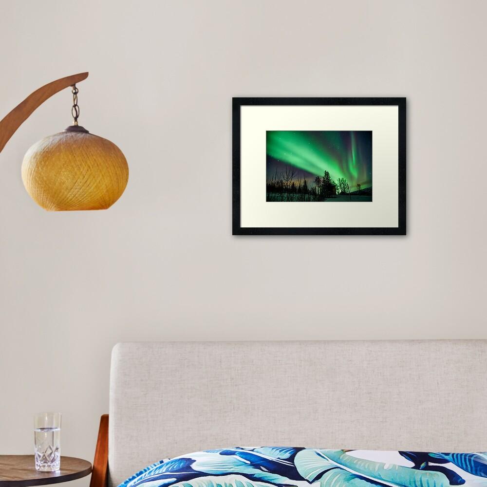 Northern Lights - Norway (Storteinnes) Framed Art Print