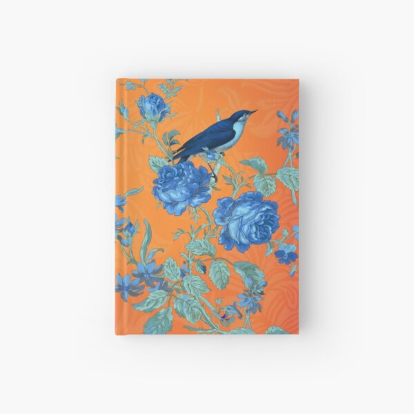 Collage Indigo and Orange Hardcover Journal