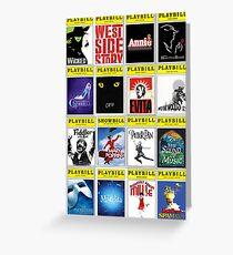 Playbill palooza 2! Greeting Card