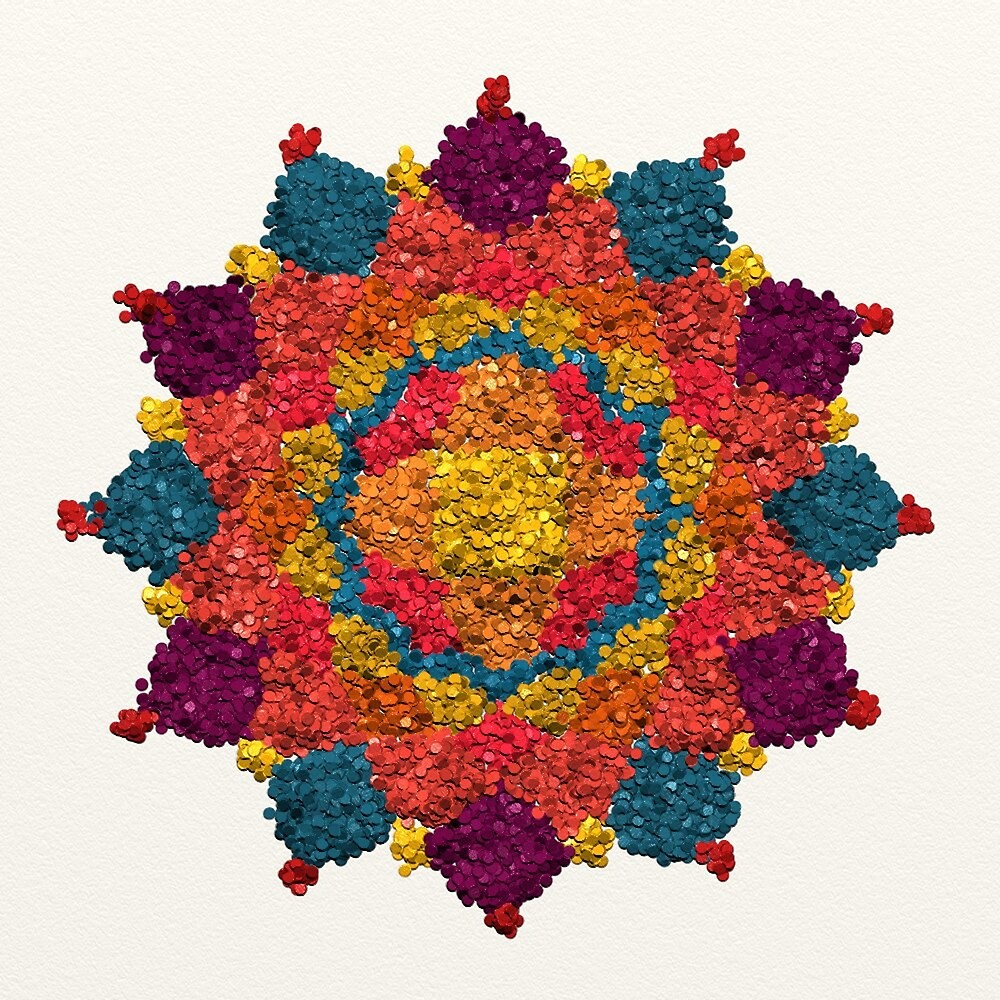 Healing Mandala Cheerful Colors by Lucie Rovná