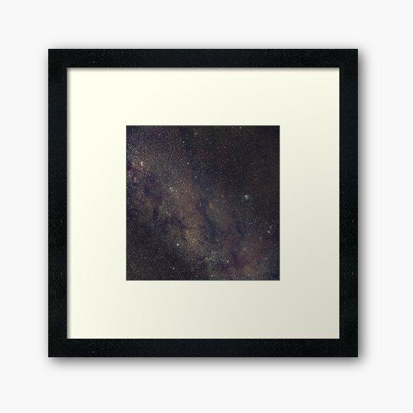 Winter Milky Way + Pleiades + California Nebula Framed Art Print