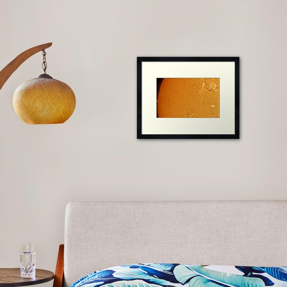 Mercury - Sun transit 1 Framed Art Print