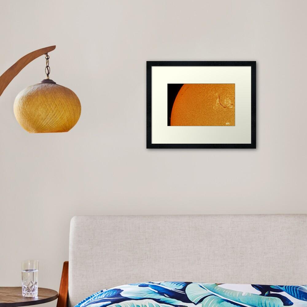Mercury - Sun transit (1st contact) Framed Art Print