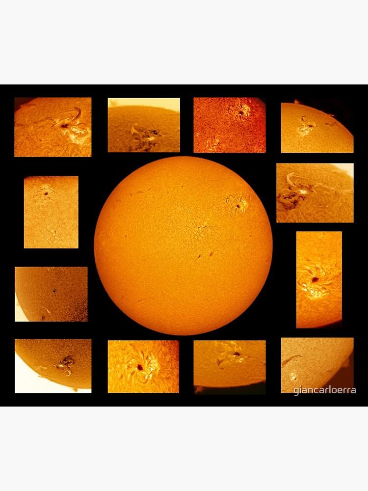 Sun mosaic in Hydrogen Alpha by giancarloerra