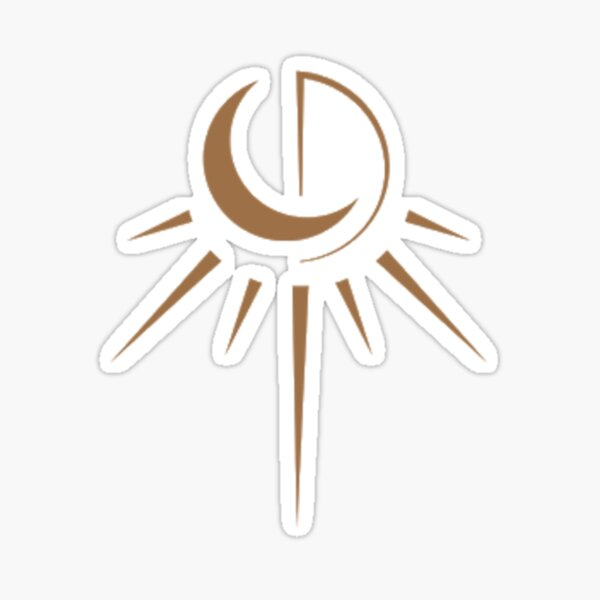 logotipo de atrapasueños Pegatina