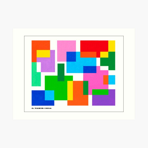 COLOURED SURFACES DISTRIBUTION Art Print
