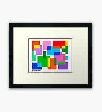 COLOURED SURFACES DISTRIBUTION Framed Print
