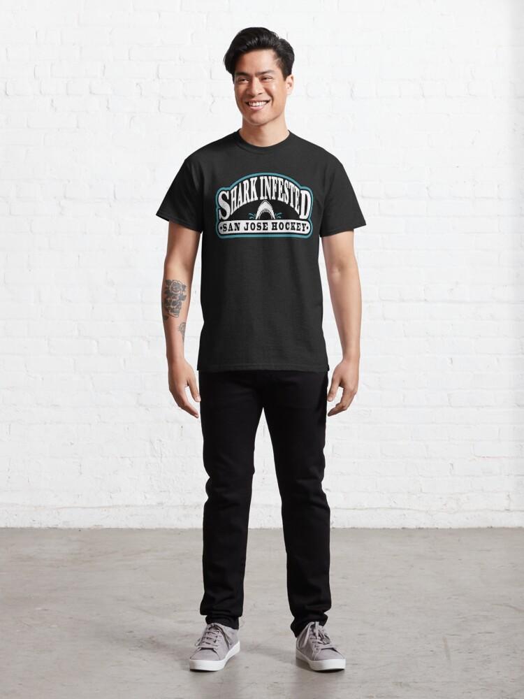 Alternate view of Shark Infested San Jose Hockey Classic T-Shirt