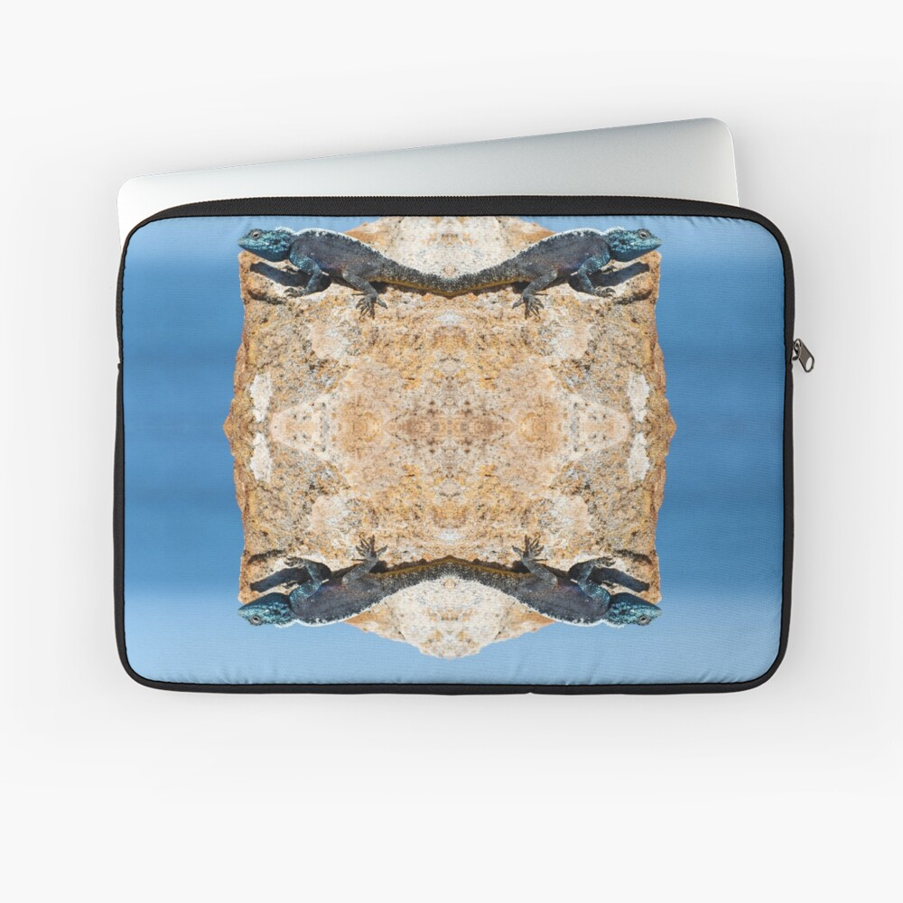 4 Lizards On A Floating Rock Laptop Sleeve