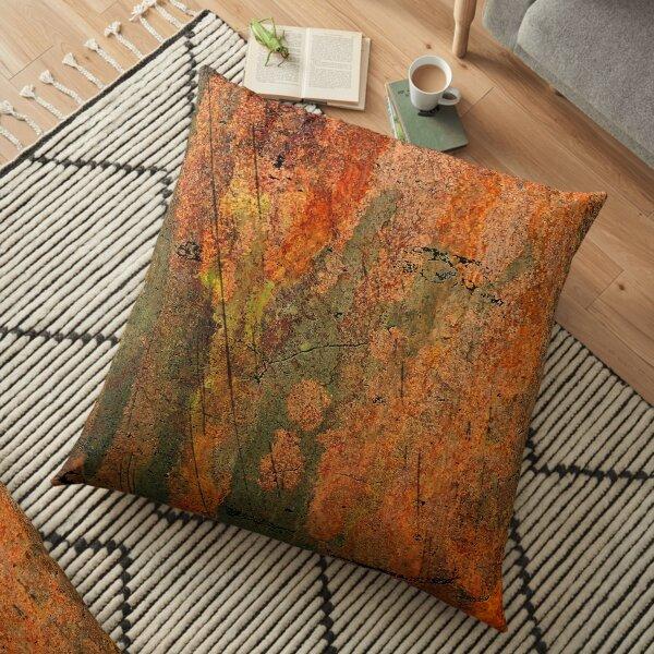Heavy distressed peeling metal paint  Floor Pillow