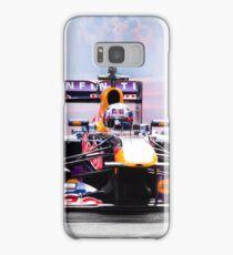 Daniel Ricciardo's F1 lights up the streets of Perth city in his Redbull race car Samsung Galaxy Case/Skin