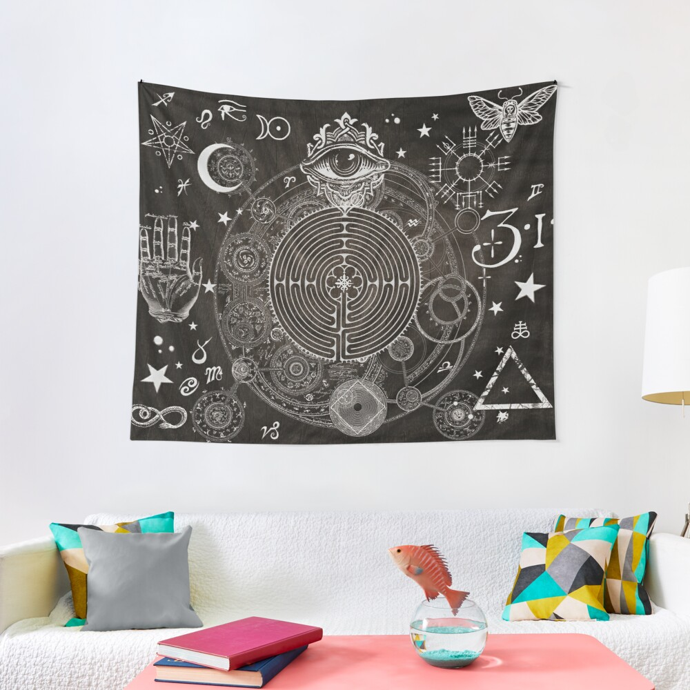 Magic Symbols for a Alchemist Dreamer Tapestry