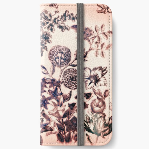 Botanical Flowers - Tattoo on Chaos iPhone Wallet