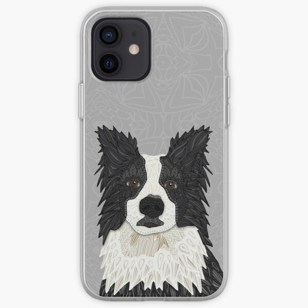 Beautiful  Black Border Collie iPhone Soft Case