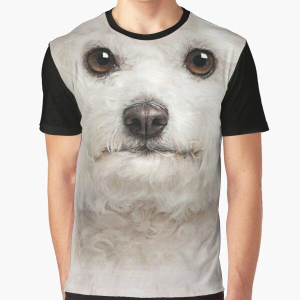 Mens Womens Cute Bichon Frise  Face 3D Gift - Lover Bichon Frise Dog Graphic T-Shirt