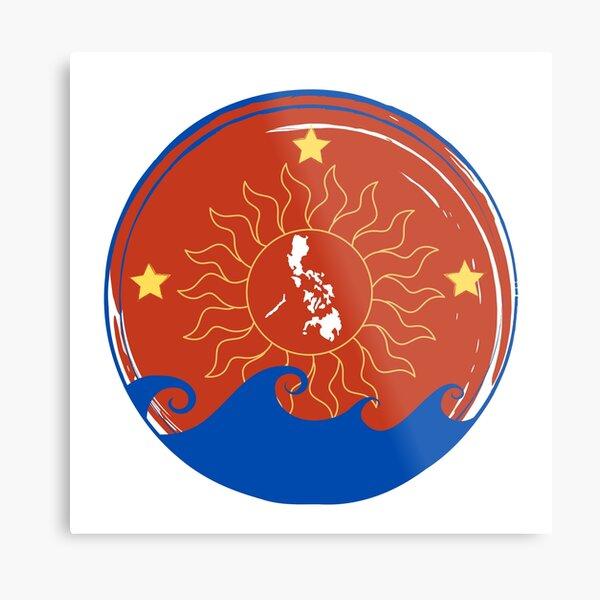 Filipino Three Stars and a Sun Metal Print
