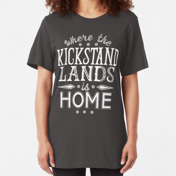 Where the Kickstand Lands is Home - As the Magpie Flies Slim Fit T-Shirt