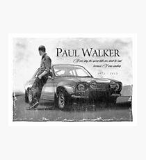 Paul Walker Photographic Print