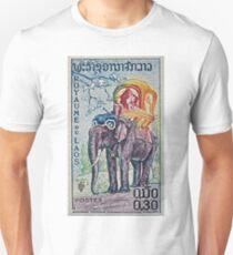 1958 Laos Elephant Stamp T-Shirt