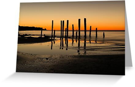 Port Willunga, South Australia at Sunset by Sharon Wills