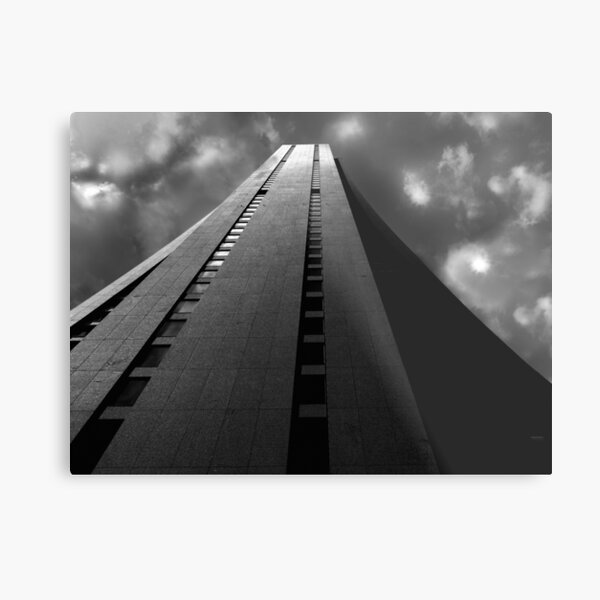 Chase Tower in Chicago. Photograph in Black and White Metal Print