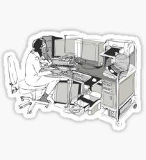 COMPUTER OFFICE WORKER Sticker