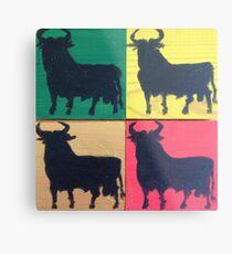 Four square Bulls Metal Print